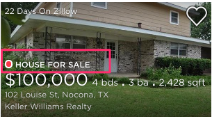 Zillow item cell